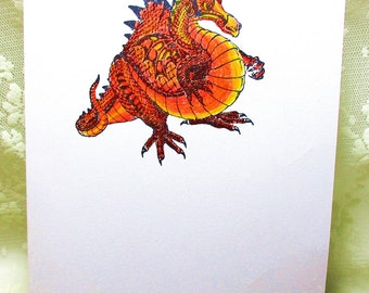 Dragon Card: Add a Greeting or Leave Blank