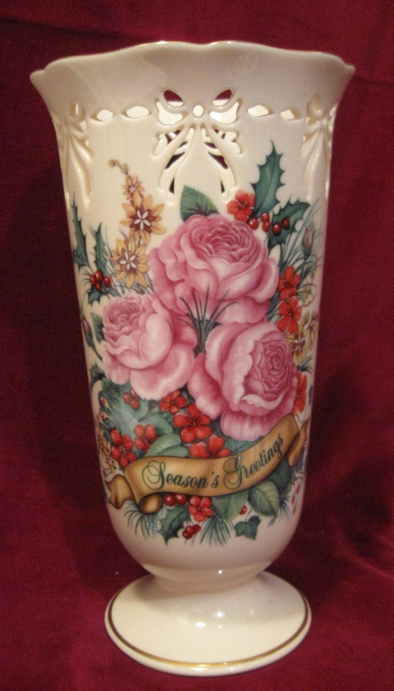 Beautiful Vintage Porcelain Lenox Season Greeting 8 5