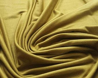 Plain Olive Green Viscose Jersey Dressmaking Fabric - UK Seller