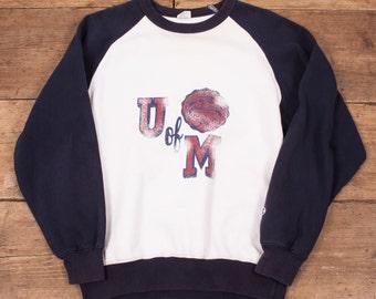 """Mens Vintage 80s Champion College Sweatshirt Sweater Jumper M 38"""" R4299"""