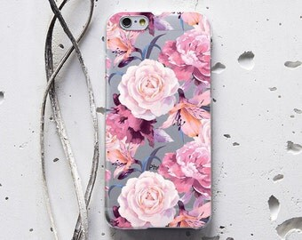 Pink Roses Flora iPhone 7 Case iPhone 6s Case iPhone 6 Case iPhone Case LG G5 Phone Case iPhone 5 Case Gift Samsung S7 Case S6 Case 056