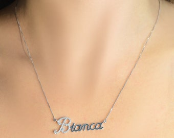 Initial Necklace, unique necklaces for women, custom best friends necklaces, necklace for womenl, 18k gold name necklace,  gift for mom