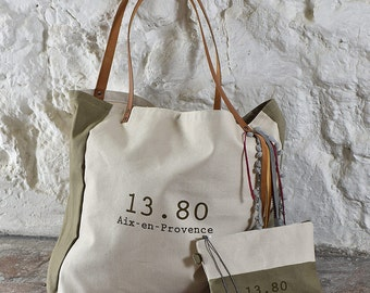 XL Tote ivory taupe Collection CABA