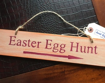 Easter Signs- Easter Egg Hunt- This way signs
