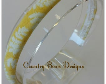Yellow and Off  White Leaf Headband- Padded Headband-Woma/Teen/Big Girl Headband