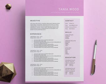 modern resume template cv template cover letter for ms word instant digital download