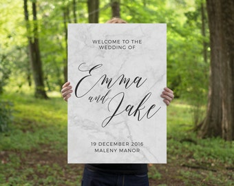 Wedding welcome sign, marble printable welcome sign, wedding sign, wedding welcome, rustic welcome sign, MARBLE