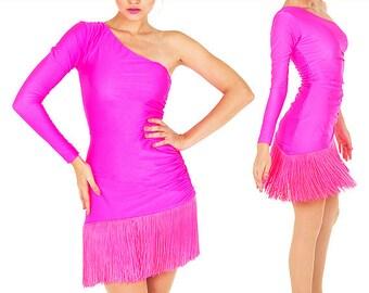 Salsa Dress - Reina de la Salsa - Fringe dress, Latin fringe dress, Latin dress, Latin dance dress, Latin ballroom dress, Robe Latine