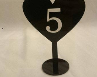acrylic or wood table numbers - wedding birthday anniversary