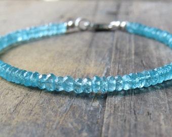 Natural Blue Apatite Bracelet