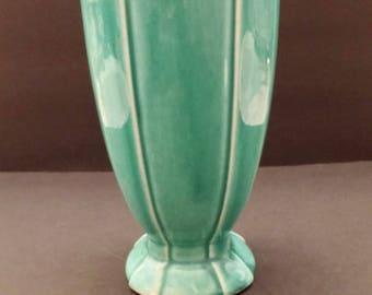 McCoy Art Deco Scroll top Vase