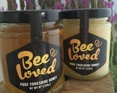 BeeLoved - 226g/ 8oz- Pure Yorkshire Honey - Raw straight from the hive - Spring / Summer honey