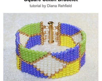 Beginner's Guide to Beadweaving (Square Stitch Bracelet) tutorial