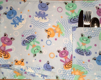 Placemat for dinner, lunch, lunchbox