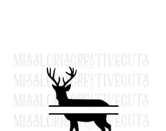 Split letter Buck SVG Cut file  cut filescrapbook vinyl decal wood sign cricut cameo Commercial use
