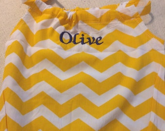 Monogrammed baby girl Chevron Sun Suit Bubble Suit Romper gifts for her summer one piece embroidered personalized baby shower gift birthday