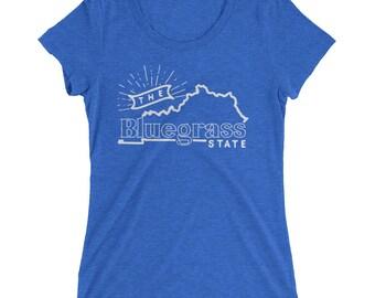 Kentucky Bluegrass State Womens Tri-Blend T-Shirt
