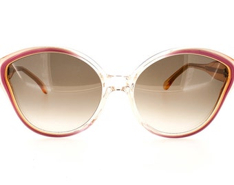 Genuine 1970s Yves Saint Laurent Eurypide 667 Butterfly Vintage Sunglasses // New Old Stock // Made in France