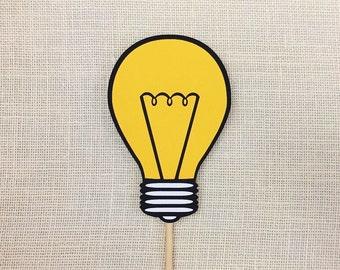 Light Bulb Photo Booth Prop / Brilliant Idea Prop / Thinking Photo Prop / Good Idea / Smart Idea / Party Props / FULLY ASSEMBLED