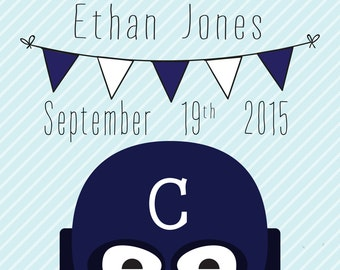 Carlton Blues Birth Announcement Print