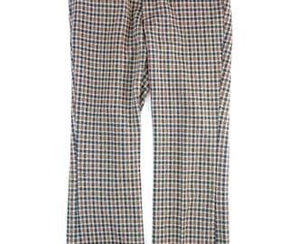 Men's Vintage FARAH Pants Slacks Plaid 32 x 29