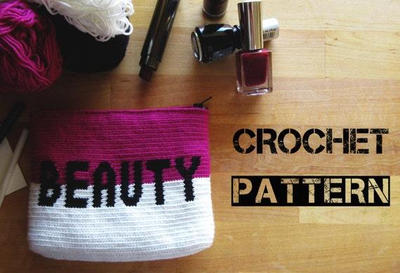 Crochet Toiletry Bag Pattern : Crochet Cosmetic Bag Pattern / Make up Crochet Pouch Pattern