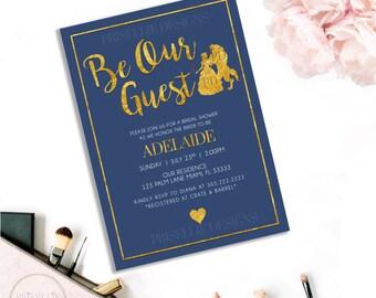 Disney bridal shower invitations Etsy