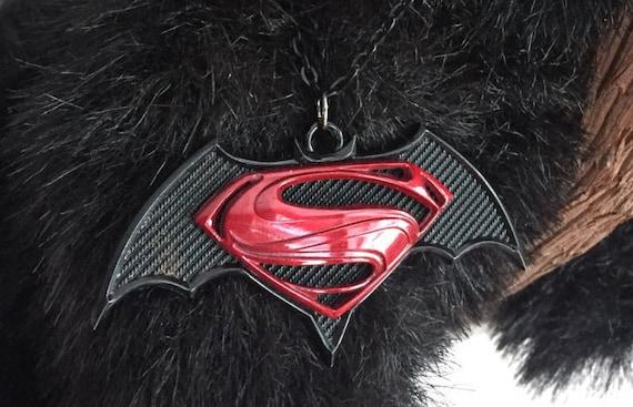 Batman Superman  Pendant Necklace