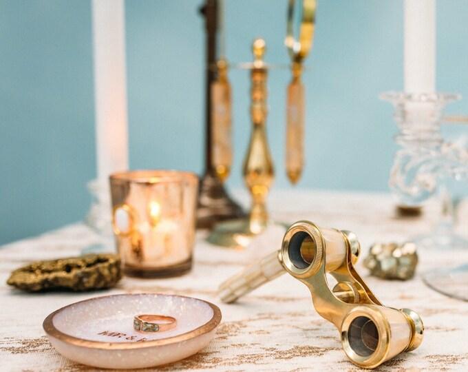 OPAL // Handmade Polymer Clay Jewelry Dish, Ring Dish, Trinket Dish