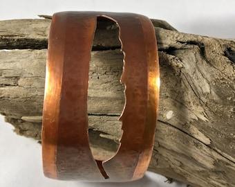 Copper Feather Cuff