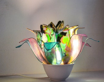 "Lotus Lamp ""Black Orchid"" / Free Shipping"