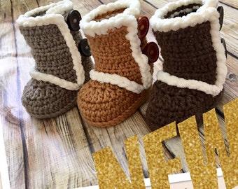 Handmade. Crochet. Baby Booties