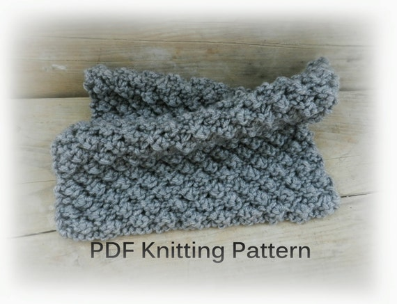 Knitting Pattern For Chunky Baby Blanket : PDF Knitting Pattern Easy knit blanket Gray Knit Baby Blanket