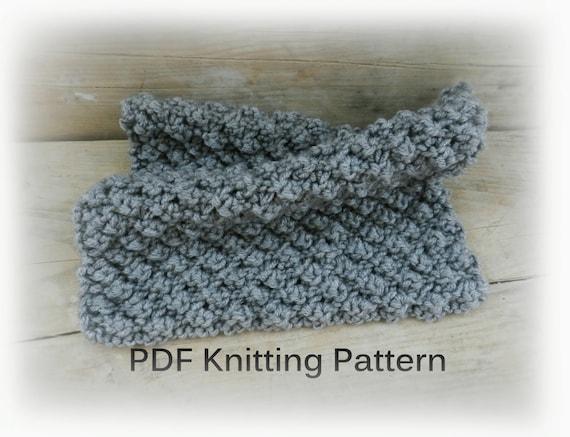 PDF Knitting Pattern Easy knit blanket Gray Knit Baby Blanket