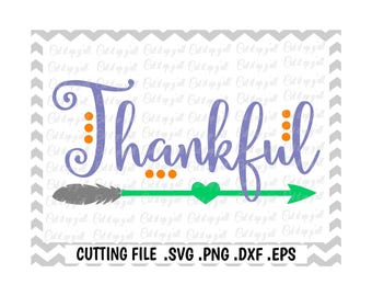 Thankful Svg, Blessed Svg, Fall, Thanksgiving Svg- Dxf- Png-Pdf- Eps, Cutting Files for Silhouette Cameo/Cricut, Svg Download.
