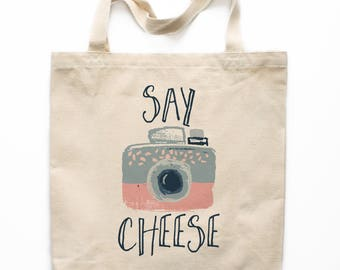 Canvas Tote Bag, Camera Canvas Tote Bag, Printed Tote Bag, Photographer Canvas Bag, Market Bag, Shopping Bag, Reusable Grocery Bag 0007