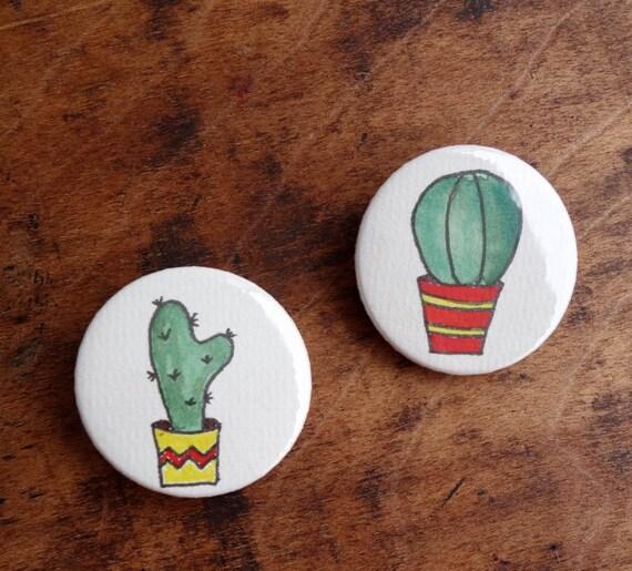 Kaktusliebe - Buttonset Kaktus 2 Stück