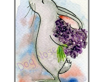Bunny - Hand-Painted Cards for any occasion (Not a print)