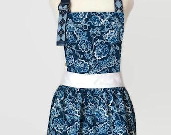 Flower Apron  Dalia – Handmade Kitchen apron