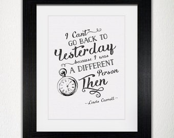Framed Lewis Carroll Alice In Wonderland Quote | Inspirational Quote | Lewis Carroll Quote | Book Quote | Alice In Wonderland Quote