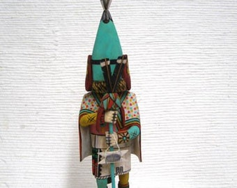 Native American Hopi Carved Aholi Priest Katsina Doll