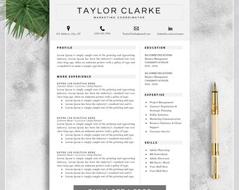 resume template cv template for ms word professional resume design creative resume - Buy Resume Template