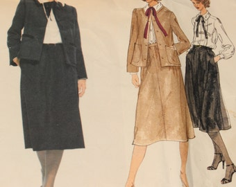 Vogue Paris Original Sewing Pattern, # 1843, by Christian Dior, Vintage Vogue, circa l970s.