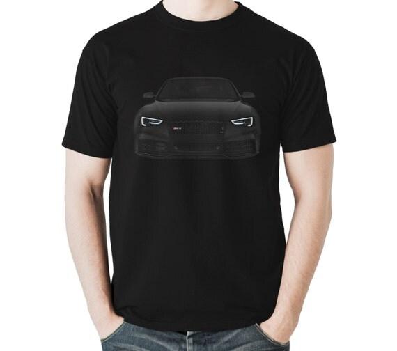 audi rs5 t shirt a5 s5 noir pour homme cadeau id e 100 coton. Black Bedroom Furniture Sets. Home Design Ideas