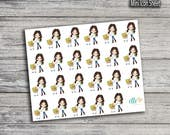 Grocery Girl Stickers (Glossy & Matte)