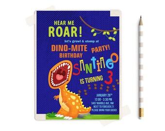 Dinosaur birthday invitation, Dinosaur invitation, Dinosaur invitations, Dinosaur Birthday, Dinosaur Party, Dinosaur, Dinosaur Invitation