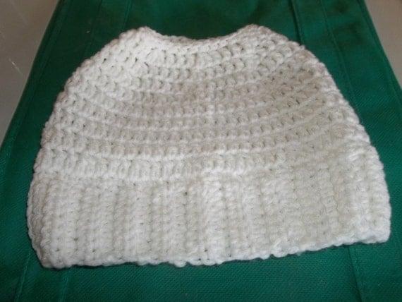 Crochet Messy Bun/Ponytail Hat