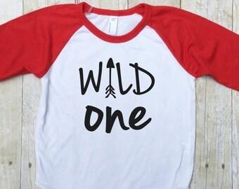 Wild One Birthday Shirt - First Birthday Shirt - Smash Cake Shirt - 1st Birthday Shirt - Birthday Photo Shirt - Wild & One Shirt-Boys First