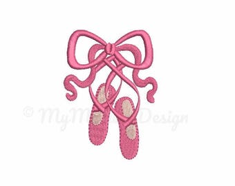 Ballet  embroidery design - Ballet shoes  embroidery - Machine embroidery - Digital File - Instant download pes hus jef vip vp3 xxx dst exp