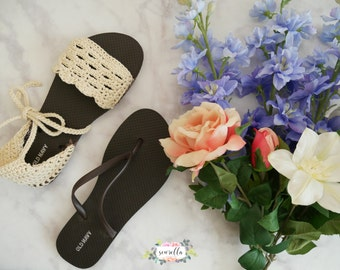 Crochet Spring Sandals with Flip Flop Soles PATTERN pdf instant digital download shoes flats accessories handmade